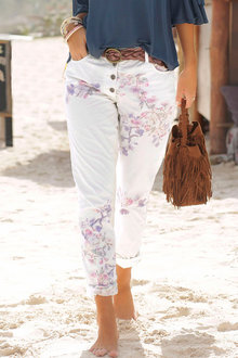 Urban Floral Printed Pants