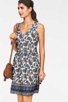 Urban Border Print Dress - 230531