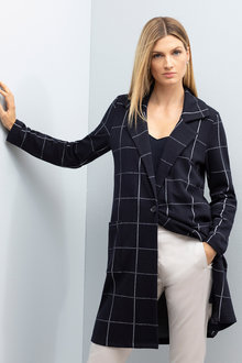 Grace Hill Check Cardi Coat - 230573