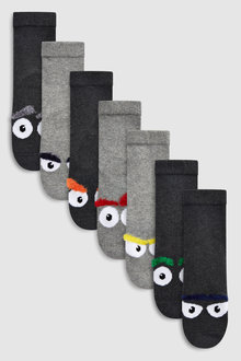 Next Monster Comfort Socks Five Pack (Older) - 230589