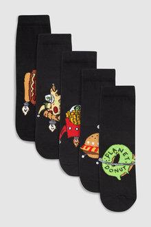 Next Space Fast Food Socks Five Pack (Older)