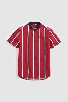 Next Short Sleeve Stripe Baseball Neck Shirt (3-16yrs)