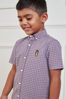 Next Short Sleeve Gingham Shirt (3-16yrs)