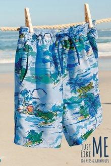Next Dino Hawaiian Print Swim Shorts (3mths-16yrs)