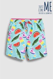 Next Inflatable Print Swim Shorts (3mths-16yrs)