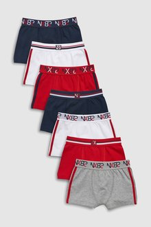 Next Sporty Trunks Seven Pack (2-16yrs)