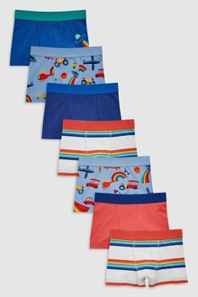 Next Transport Print Trunks Seven Pack (2-12yrs)