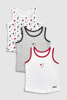 Next Star Vests Three Pack (1.5-8yrs)