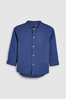 Next Linen Blend Grandad Neck Shirt (3mths-7yrs)