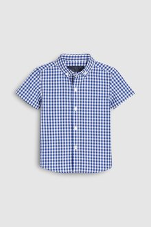 Next Gingham Poplin Short Sleeve Shirt (3mths-7yrs)