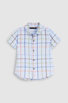 Next Short Sleeved Linen Blend Shirt (3mths-7yrs)