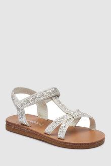 Next Glitter T-Bar Sandals (Younger)