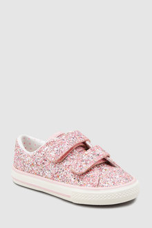 78773cd4e7f6 Next Glitter Touch Fastening Trainers (Younger)