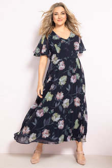 Plus Size - Sara Floral Maxi Dress