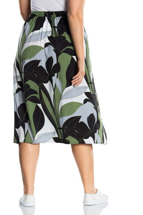 Plus Size - Sara Side Button Skirt