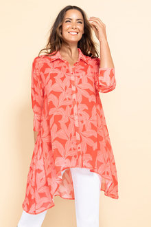 Plus Size - Sara Hi Low Hem Shirt