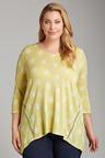 Plus Size - Sara 3/4 Sleeve Linen Tee