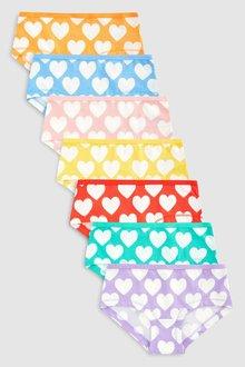 Next Hipster Briefs Heart Print Seven Pack (2-16yrs)