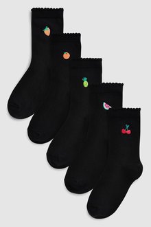 Next Fruit Embroidery Ankle Socks Five Pack (Older)