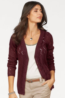Urban Pointelle Detail Cardigan - 230919