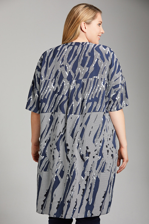 Plus Size - Sara Abstract Long Shirt