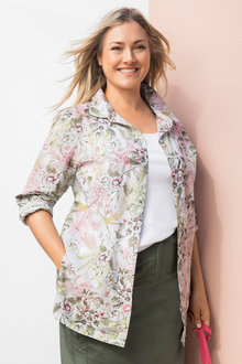 Plus Size - Sara Button Thru Swing Shirt