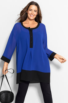 Plus Size - Sara Colour Block Top