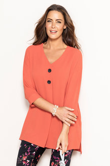 Plus Size - Sara Button Placket Top
