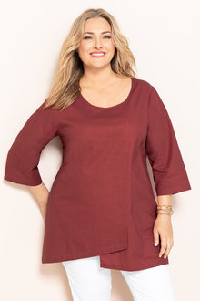 Plus Size - Sara Linen Layer Top