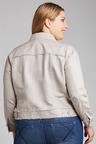 Plus Size - Sara Linen Crop Jacket