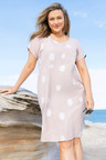 Plus Size - Sara Spot Linen Dress