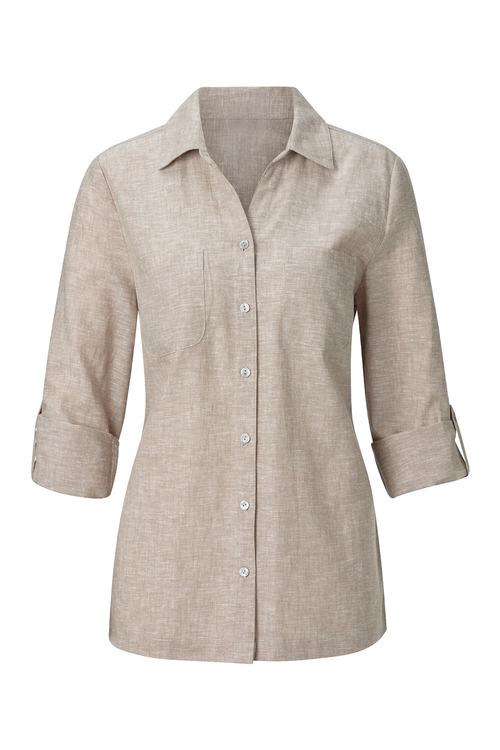 Euro Edit Linen Blend Button Shirt