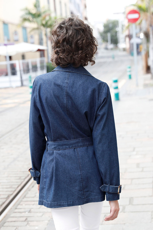 Euro Edit Chambray Trench Coat
