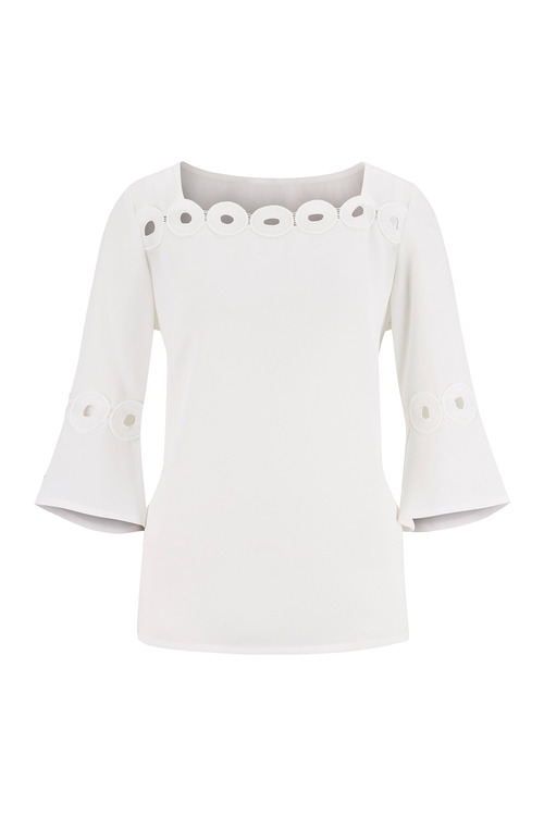 Euro Edit Lace Trim Top