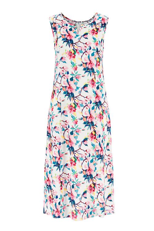 Euro Edit Notch Neck Floral Dress