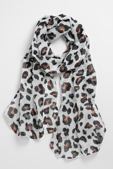 Accessories Leopard Print Scarf