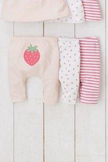 Next Strawberry Leggings Three Pack (0mths-2yrs)