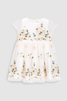 Next Floral Embroidered Dress (0mths-2yrs)