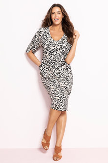 Plus Size - Sara Drape Pocket Dress