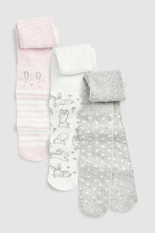 Next Bunny Tights Three Pack (0mths-2yrs)