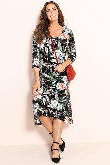 Plus Size - Sara Flared Hem Dress - 231043