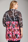 Plus Size - Sara Mesh Longline Jacket