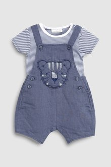 Next Tiger Dungarees And Bodysuit Set (0mths-2yrs)