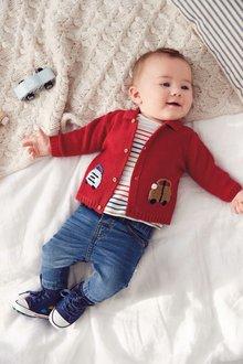 Next Embroidered Car Cardigan (0mths-2yrs)