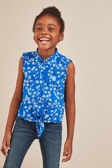 Next Floral Tie Front Blouse (3-16yrs)