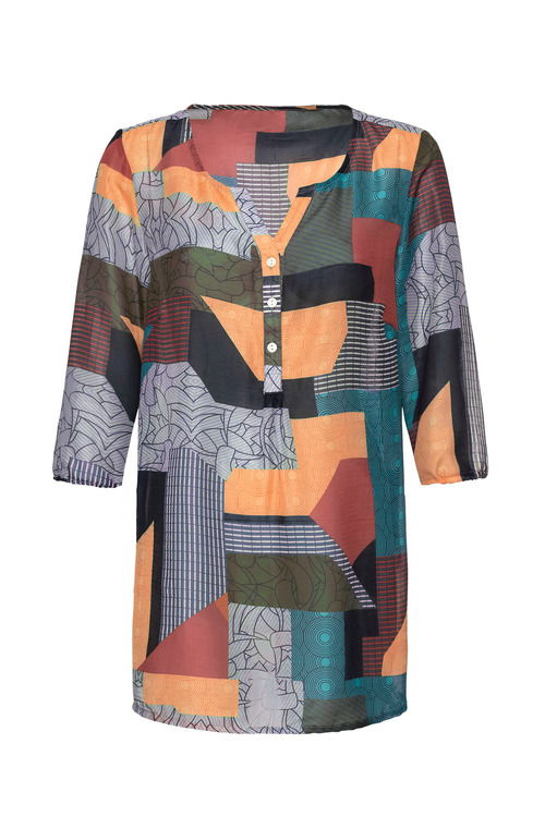 Euro Edit Patchwork Top