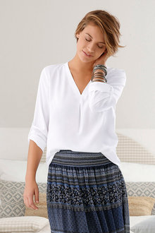 Capture European Pleat Front Top