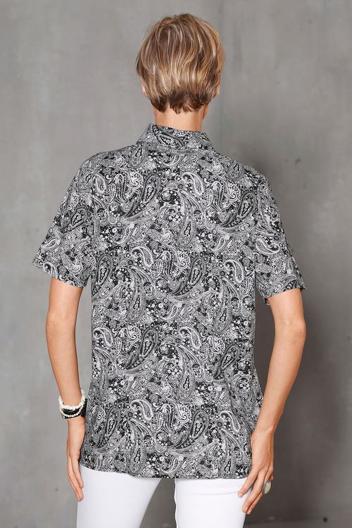 Euro Edit Paisley Print Shirt