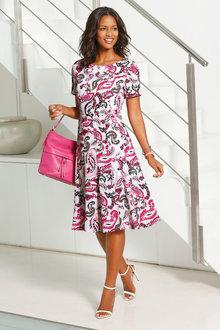 Euro Edit Fit & Flare Dress - 231129