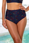 Nip Tuck High Waist Ruched Swim Pants